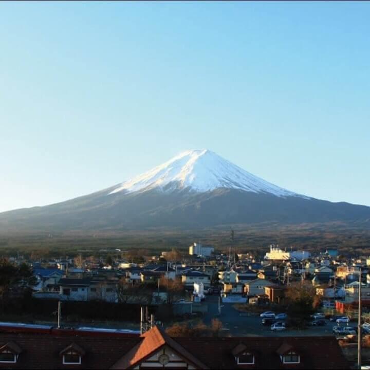 富士山河口湖駅前のライブカメラ|山梨県富士河口湖町