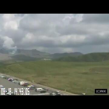 阿蘇山のライブカメラ(阿蘇火山博物館)|熊本県阿蘇市