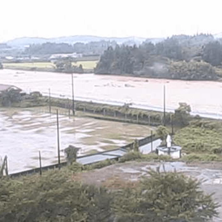 舟形小学校屋上(最上小国川)のライブカメラ・山形県舟形町