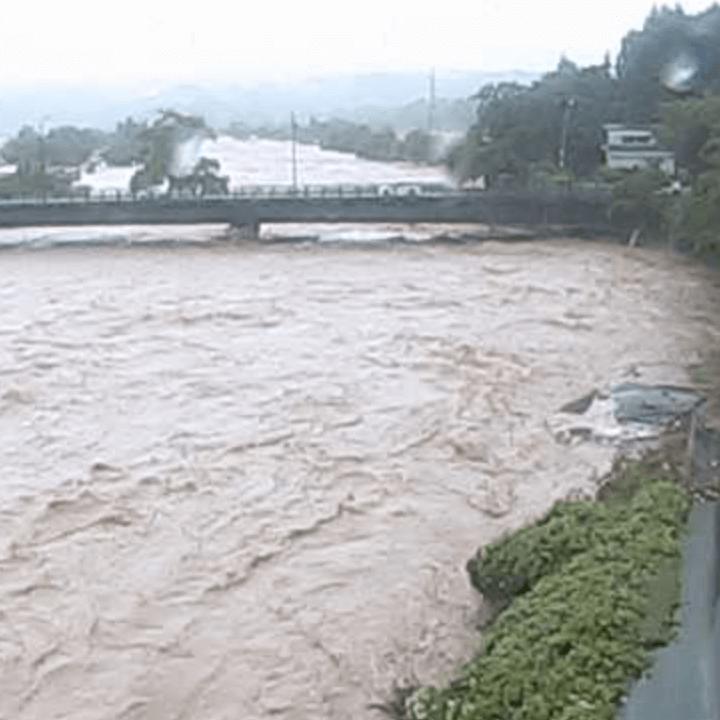 富長橋上流右岸(最上小国川)のライブカメラ・山形県舟形町