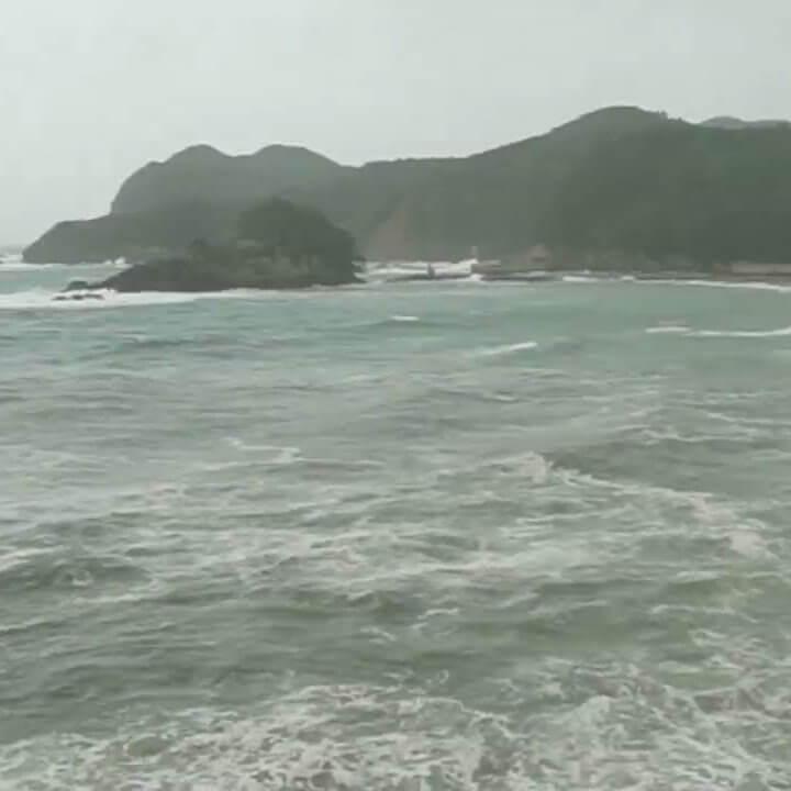 台風21号(チェービー)のライブカメラ・徳島県南部日和佐