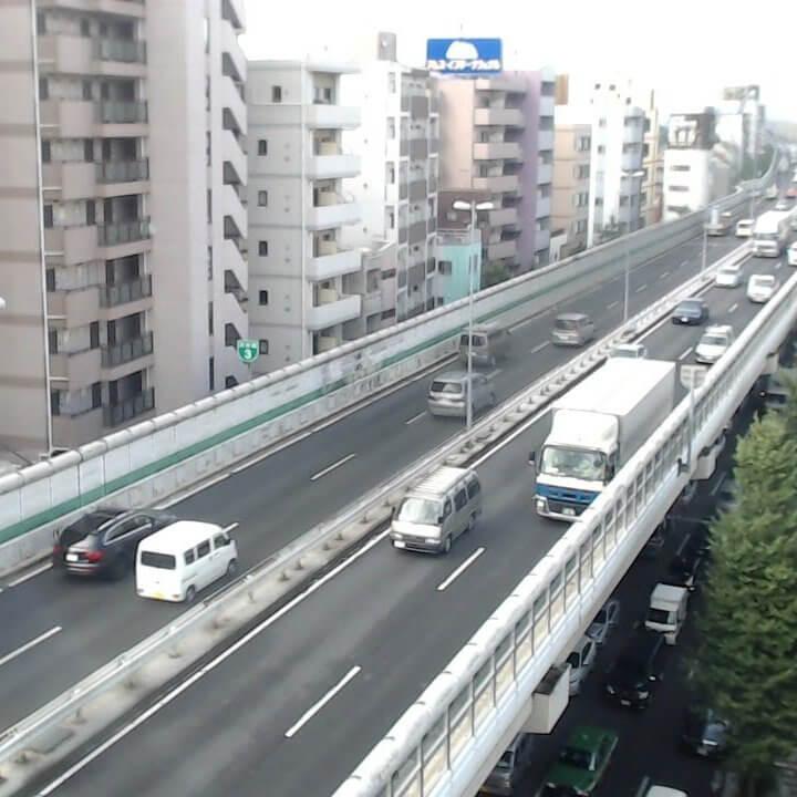 首都高(用賀方面)のライブカメラ|東京都世田谷区