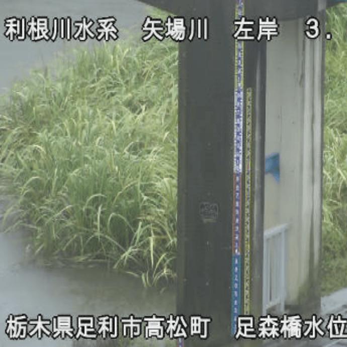 矢場川(足森橋水位観測所)のライブカメラ・栃木県足利市高松町