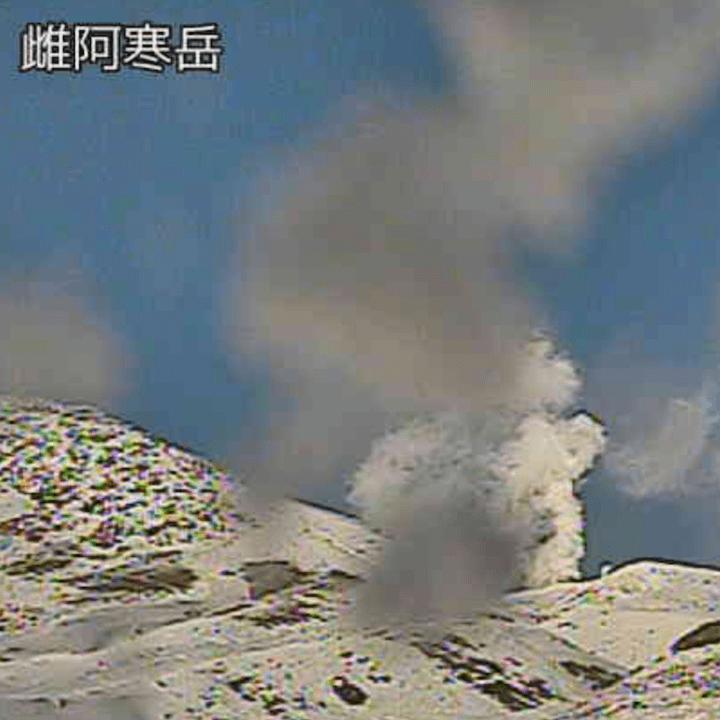 雌阿寒岳阿寒富士北のライブカメラ|北海道釧路市