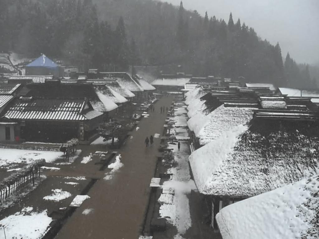 大内宿のライブカメラ・天気・地図|福島県下郷町