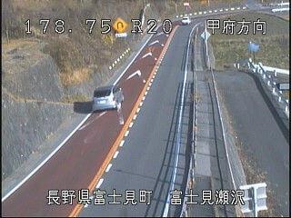 国道20号瀬沢のライブカメラ|長野県富士見町
