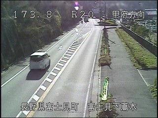 国道20号下蔦木のライブカメラ|長野県富士見町