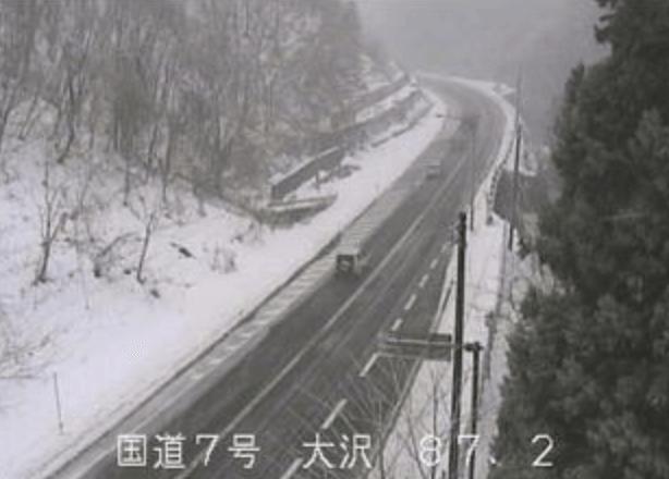 国道7号大沢のライブカメラ|新潟県村上市