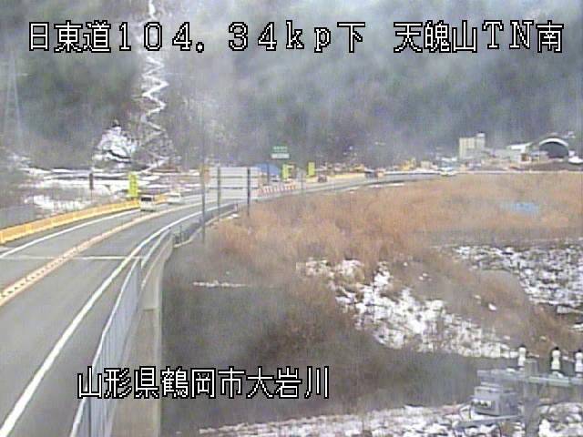 日本海東北自動車道天魄山トンネル南のライブカメラ・天気・地図|山形県鶴岡市
