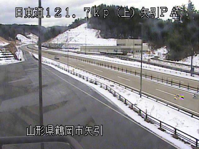 日本海東北自動車道矢引パーキングエリア(上り)のライブカメラ|山形県鶴岡市