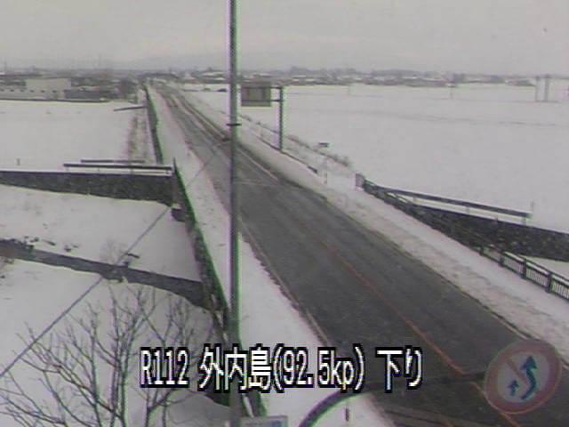 国道112号外内島のライブカメラ|山形県鶴岡市