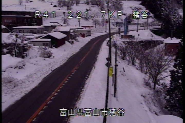 国道41号 猪谷のライブカメラ|富山県富山市