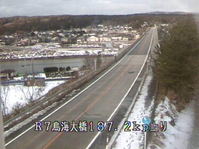 国道7号鳥海大橋のライブカメラ|山形県遊佐町