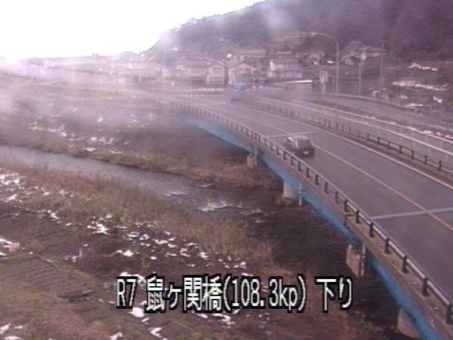 国道7号線鼠ヶ関橋のライブカメラ|山形県鶴岡市