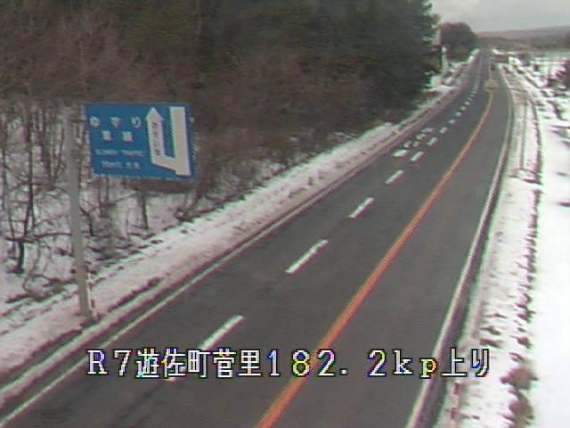 国道7号菅里のライブカメラ|山形県遊佐町