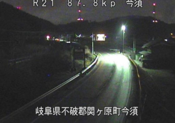国道21号 今須のライブカメラ 岐阜県関ケ原町