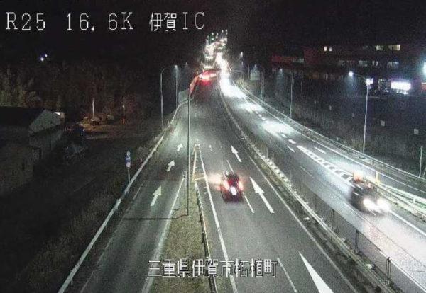 国道25号 伊賀インターチェンジのライブカメラ 三重県伊賀市