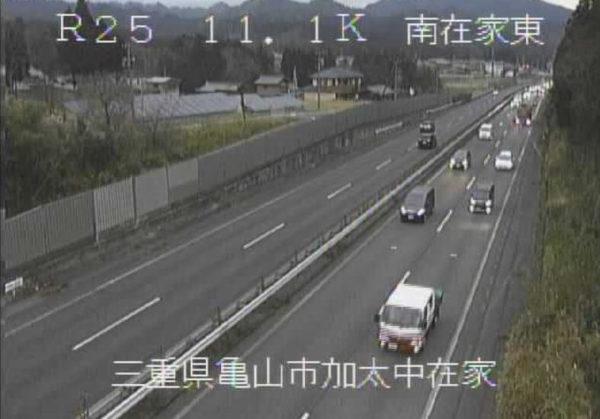 国道25号 南在家東のライブカメラ|三重県亀山市