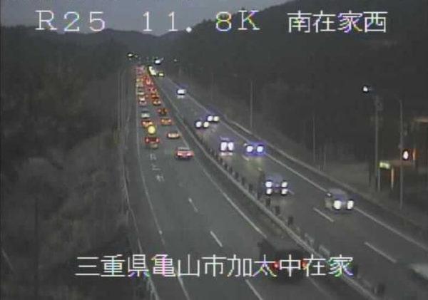 国道25号 南在家西のライブカメラ|三重県亀山市
