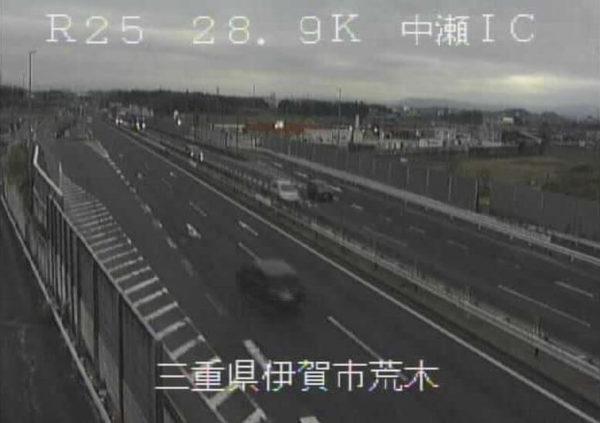 国道25号 中瀬インターチェンジのライブカメラ|三重県伊賀市