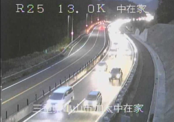 国道25号 中在家のライブカメラ|三重県亀山市
