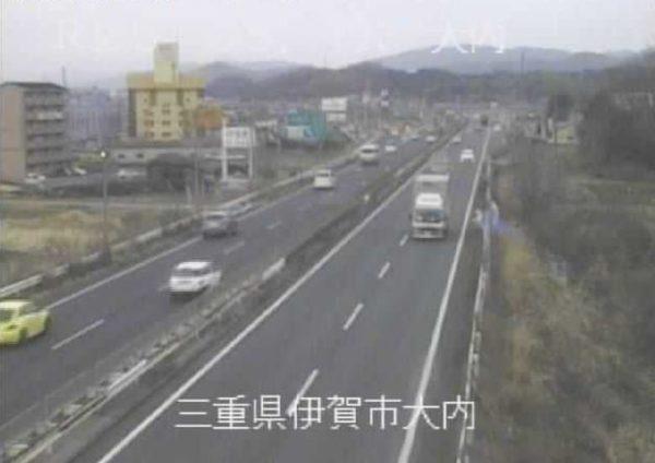 国道25号 大内のライブカメラ 三重県伊賀市