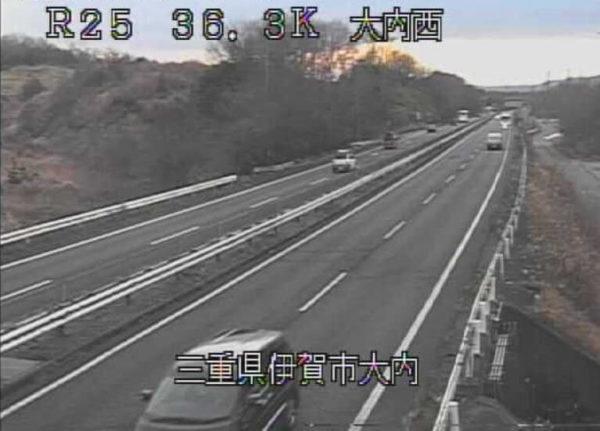 国道25号 大内西のライブカメラ|三重県伊賀市