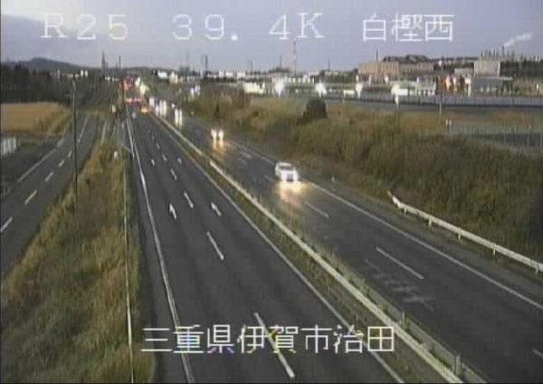国道25号線 白樫西のライブカメラ 三重県伊賀市