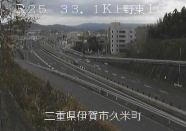 国道25号線 上野東インターチェンジ2番のライブカメラ・天気・地図 三重県伊賀市