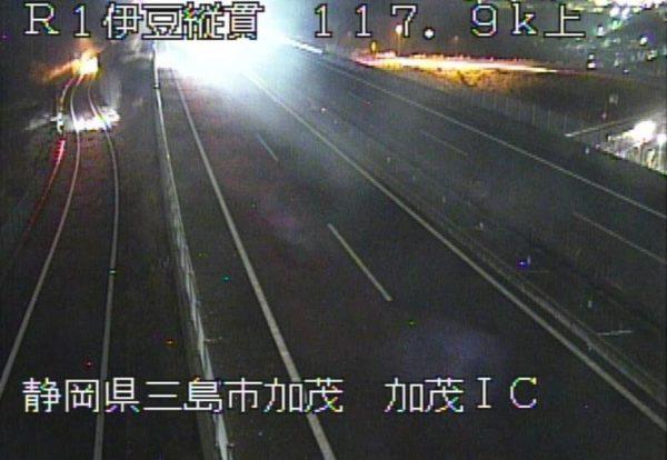 国道1号 伊豆縦貫自動車道 加茂インターチェンジのライブカメラ|静岡県三島市