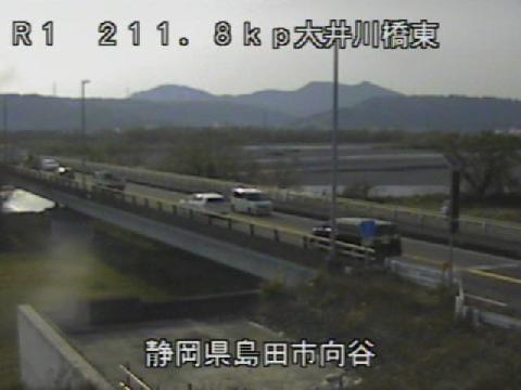 国道1号 大井川橋東のライブカメラ|静岡県島田市
