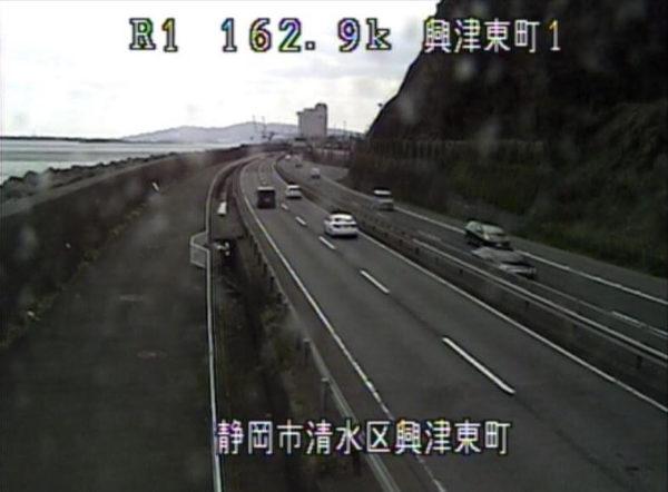 国道1号富士由比バイパス 興津東町のライブカメラ|静岡県静岡市清水区