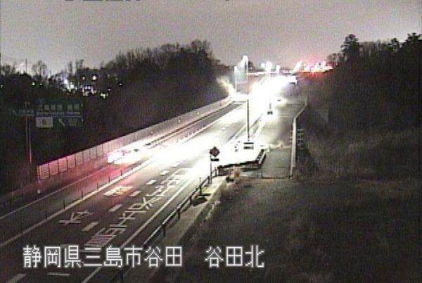 国道1号 伊豆縦貫自動車道 谷田北のライブカメラ|静岡県三島市