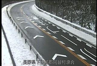 国道153号 治部坂峠北のライブカメラ|長野県阿智村