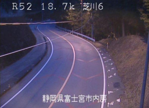国道52号 芝川6番のライブカメラ|静岡県富士宮市