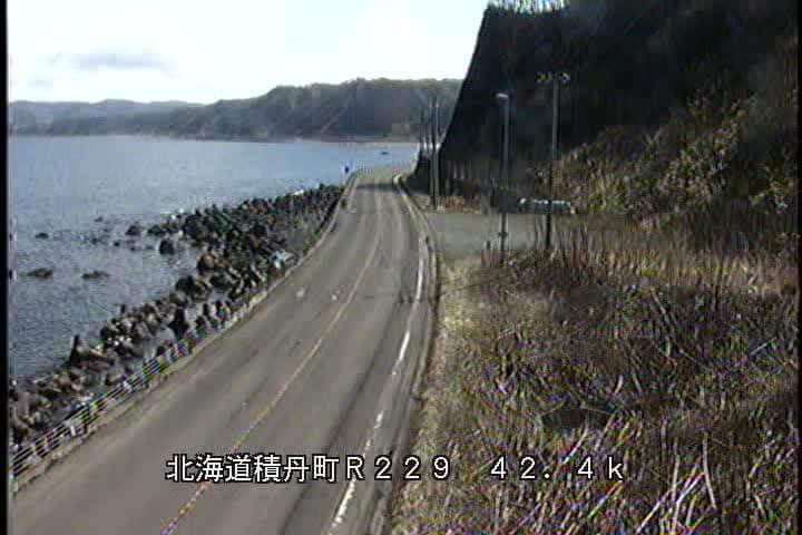 国道229号 積丹町西河のライブカメラ|北海道積丹町
