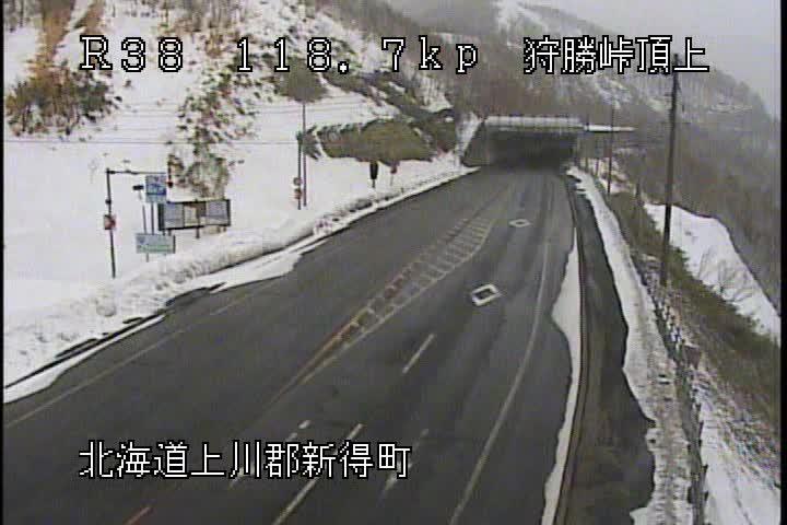 国道38号 狩勝峠頂上のライブカメラ|北海道新得町