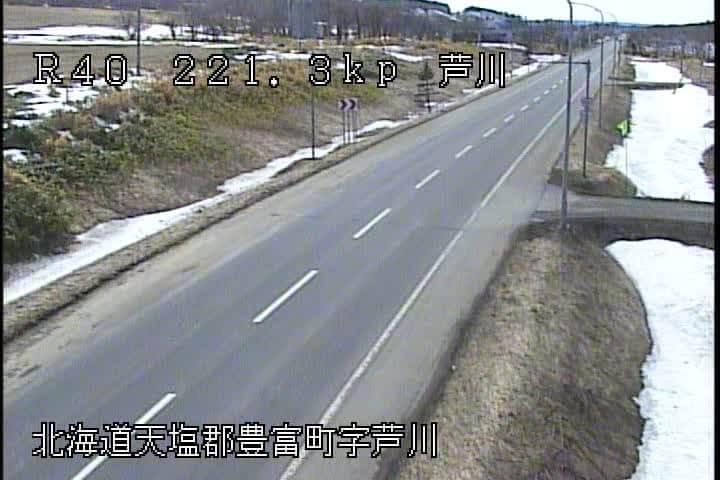 国道40号線 豊富町芦川のライブカメラ|北海道豊富町