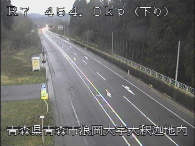 国道7号 浪岡バイパス大釈迦のライブカメラ|青森県青森市