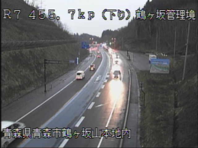 国道7号 鶴ヶ坂管理境のライブカメラ|青森県青森市