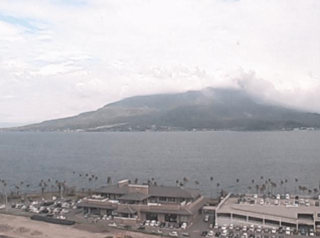桜島のライブカメラ(今日の鹿児島)|鹿児島県鹿児島市