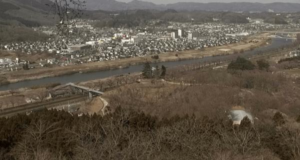 白石川堤一目千本桜のライブカメラ 宮城県柴田町