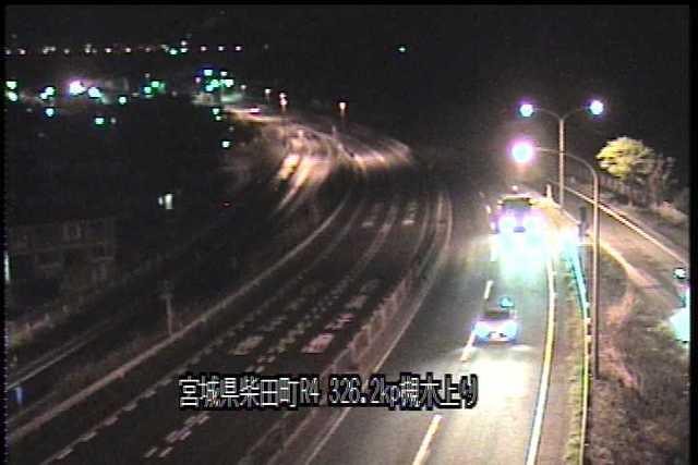 国道4号 槻木高架橋上りのライブカメラ|宮城県柴田町