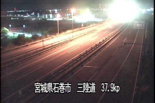 三陸縦貫自動車道 石巻河南インターチェンジのライブカメラ|宮城県石巻市