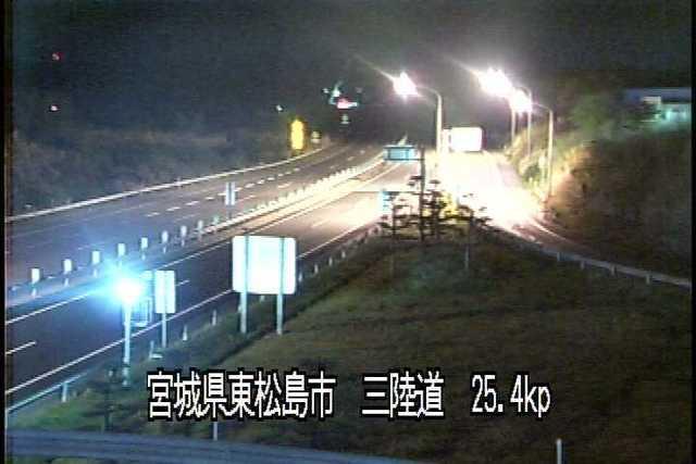 三陸縦貫自動車道 鳴瀬奥松島インターチェンジのライブカメラ|宮城県東松島市