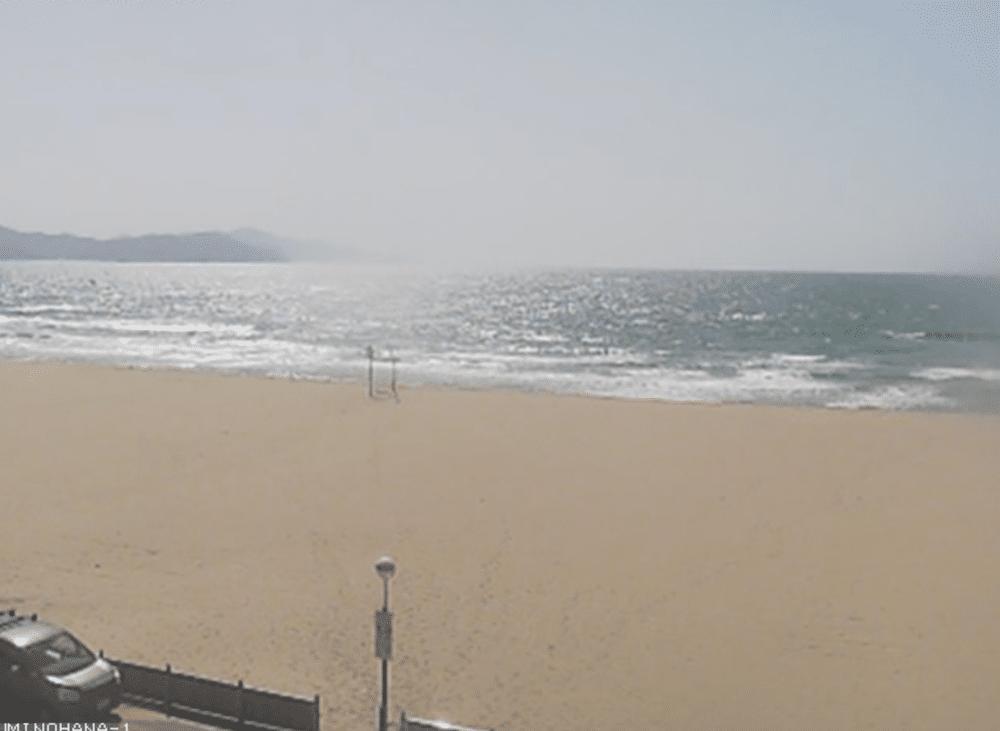 浜詰海水浴場のライブカメラ(海の華夕日ヶ浦)|京都府京丹後市
