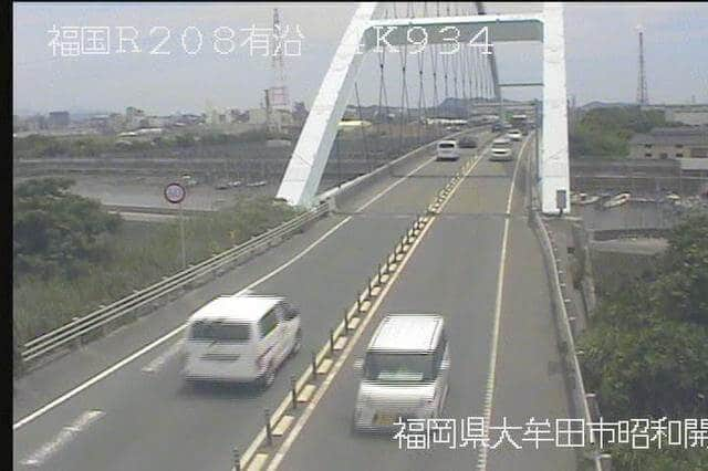 有明海沿岸道路 堂面川橋のライブカメラ|福岡県大牟田市