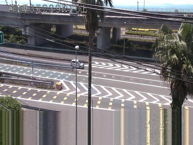 南九州自動車道 日奈久インターチェンジのライブカメラ|熊本県八代市