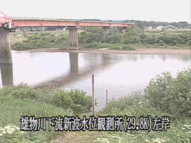 雄物川 新波水位観測所のライブカメラ|秋田県秋田市