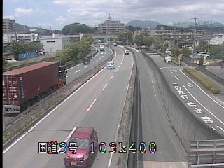 国道3号 基山駅前のライブカメラ 佐賀県基山町